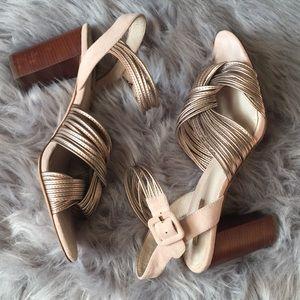 Louise et Cie rose gold Lo-Kamden heels 9M/39